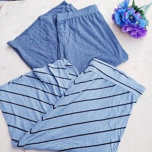 Lot of 2 gray 4x plus stretchy skirts (q)